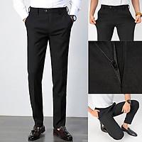 Quần âu nam đen ống côn cao cấp,quân tây nam vải dày dặn không nhăn không xù trẻ trung, dáng ôm năng động - Màu đen - Size 32