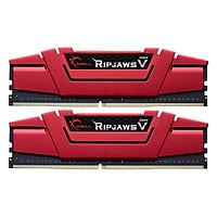 Bộ 2 Thanh RAM PC G.Skill F4-2400C15D-8GVR Ripjaws V 4GB DDR4 2400MHz UDIMM XMP - Hàng Chính Hãng