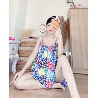 Bộ Đồ Pijama, Bộ Ngủ Hai Dây Lụa Satin Cao Cấp - Boody BV06