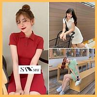 Đầm Polo Nữ Dáng Suông SANMAY Váy Thun Ôm Body, Đi Dự Tiệc Cưới Đi Chơi Biển, Công Sở Hàn Quốc, Vải Cotton Cao Cấp VD025