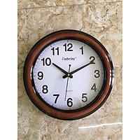 đồng hồ treo tường vành sơn vân gỗ 36cm