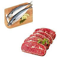 Combo 44: 1kg Cá saba Nhật + 500gram Lõi vai bò Mỹ cắt lát