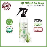 [Tự chọn 9 mùi] Xịt Phòng Tinh Dầu Hữu Cơ Organic 24Care 250ML - Kháng khuẩn - Khử mùi hôi - Đuổi muỗi, côn trùng - Hương thơm thư giãn