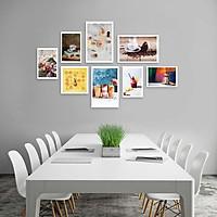 Bộ khung ảnh treo tường composite Cà phê 7 tặng đinh 3 chân  KA239