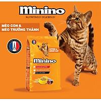 Thức ăn cho mèo con & mèo trưởng thành vị cá ngừ Minino Tuna Flavored 1,3kg