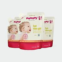 Combo 3 Túi Bổ Sung Bọt tắm gội thiên nhiên Mamamy an toàn cho bé hương Floral 200ml/túi