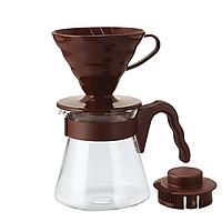 Bộ sản phẩm pha cà phê Hario, màu nâu VCSD-02CBR-700ml