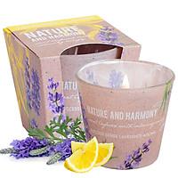 Ly nến thơm tinh dầu Bartek Nature & Harmony 115g QT1698 - oải hương chanh (giao mẫu ngẫu nhiên)