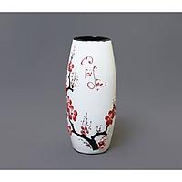 Lọ hoa Tài Lộc - gốm sứ Bát Tràng họa tiết nổi sang trọng