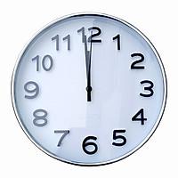Đồng hồ treo tường kim trôi cao cấp Quartz Silver DT03