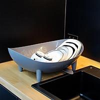 Rổ úp chén đĩa - có khe thoát nước dáng thuyền Draning board