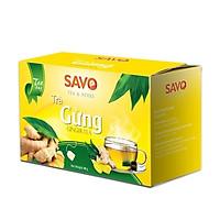 Trà Gừng Túi Lọc - SAVO ( Hộp 20 gói x 2g )