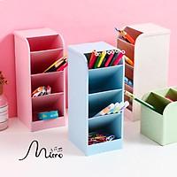 Hộp nhựa đựng bút/ mỹ phẩm/ đựng đồ 4 tầng nhiều màu tùy chọn kích thước 7,2 x 8,8 x 20,2 cm