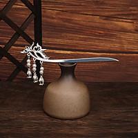 Trâm cổ trang SEN RƠI NỤ Vàng Bạc phụ kiện cài tóc phong cách cổ đại Trung Quốc