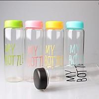 Bình đựng nước thủy tinh my bottle 500ml cute (giao màu ngẫu nhiên)