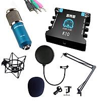 Bộ Thu Âm Sound Card K10 - Mic BM900