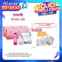 Bộ đôi Thực phẩm bảo vệ sức khỏe InnerB Snow White 70 viên và 6 Hộp 6 chai nước uống Collagen InnerB Glowshot (50mlx6)