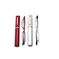 Unisex Portable Slim Mini Metal Reading Glasses Reader Spectacles Presbyopic Glasses with Glasses Case
