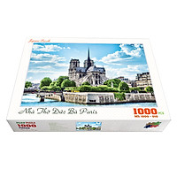 Bộ tranh xếp hình cao cấp 1000 mảnh ghép – Nhà Thờ Đức Bà Paris (50x79cm)