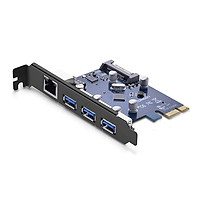 Card Mạng PCI Express Sang 3 Cổng USB 3.0 + LAN Gigabit 10/100/1000Mbps Ugreen 30775 - Hàng Chính Hãng