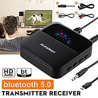 Bộ thu phát ELEGIANT bluetooth 5.0, chuyển đổi âm thanh không dây di động, phạm vi 20m với Cáp kỹ thuật số 3,5 mm Toslink 2 RCA cho TV gia đình