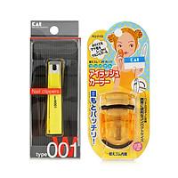Combo Bấm Móng Tay Chống Gỉ Sét KAI ( Màu Cam) + Dụng Cụ Bấm Mi Cong Hoàn Hảo( Màu Vàng) - Nội Địa Nhật Bản