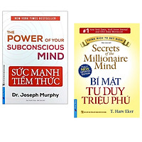 Combo 2 cuốn sách hay  : Bí Mật Tư Duy Triệu Phú  + Sức Mạnh Tiềm Thức 2021 < sách tư duy/ kĩ năng sống >(Tặng Kèm Bookmark Happy Life)