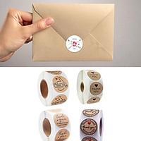 2.5cm/ 1inch Thank You Handmade Crafts Roll Flower Sticker Decoration
