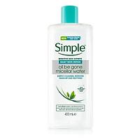Tẩy trang Simple Daily Skin Detox Oil Be Gone Micellar Cleansing Water (xanh dương da dầu) - 400ml (Bill Anh)