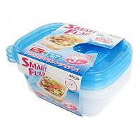 Hộp nhựa đựng thực phẩm Smart Flap 610mlx3