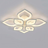 Đèn trần - đèn ốp trần - đèn led trang trí phòng khách hoa mai 8 cánh 3 màu ánh sáng có điều khiển từ xa