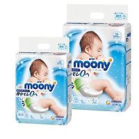 [Combo 2] Bỉm - Tã dán Moony Blue size Newborn 90 miếng (Cho bé ~ 5kg)