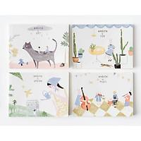Sổ vở phác thảo Joytop Secret Garden A5 13x18cm - 1 cuốn - hình ngẫu nhiên