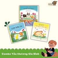 Bé Yêu Thương Gia Đình - Combo 3 cuốn Ehon cho trẻ từ 0-3 tuổi. Bao gồm: Bạn chim cút tìm quà tặng mẹ, Bạn chim cút chơi trốn tìm, Chuyện của cún Pi.
