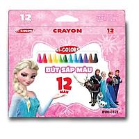 Bút sáp Vi-Colors 12 Màu Công chúa Elsa