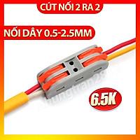 Cút nối dây điện nhanh PCT-222 2 cổng vào 2 ra - chịu tải 32A - dây tối đa 2,5mm