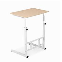 Bàn làm việc di động hai chân màu gỗ NT50 - kích thước mặt bàn 60x40cm - mặt bàn được phủ lớp melamine chống nước -chân bàn làm từ sắt không gỉ có thể tăng giảm chiều cao từ 55-70cm