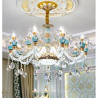 Đèn chùm SERA pha lê hiện đại trang trí nội thất sang trọng loại 15 tay - kèm bóng LED chuyên dụng.
