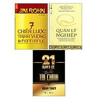 Sách - Combo 7 Chiến Lược Thịnh Vượng Và Hạnh Phúc + Quản Lý Nghiệp + 21 Nguyên Tắc Tự Do Tài Chính ( 3 cuốn )