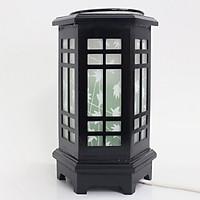 Đèn xông tinh dầu gỗ Lasante Vân gỗ Đen  DXG-02
