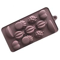 Khuôn silicon làm thạch rau câu, socola 11 hình hoa quả