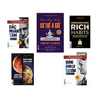 Bộ sách Thay Đổi Cách Sống và Phát Triển Sự Nghiệp ( đắc nhâm tâm - cơ thể 4h - quảng gánh lo đi vui mà sống - đàn ông sao hỏa đàn bà sao kim - rich habits kt )