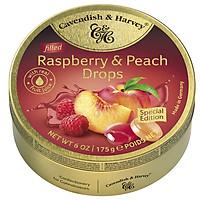 Kẹo trái cây Đức Cavendish and Harvey Raspberry & Peach vị Dâu Rừng và Đào