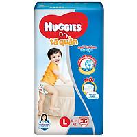 Tã Quần Huggies Dry L36 (36 Miếng) - Bao Bì Mới