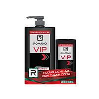 Sữa tắm Romano Vip sang trọng đẳng cấp sạch sảng khoái 650gr- Tặng dầu gội Romano Vip 150g
