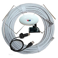 Combo anten T712B + 15m dây + dây nguồn usb cho tivi - Hàng nhập khẩu
