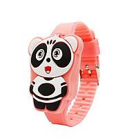 Đồng hồ đèn LED cho bé gái hình chú gấu cute dây silicon xinh xắn – DH012