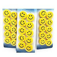 Combo 3 vỉ Nam châm hình mặt cười ( màu vàng ) siêu dính 3 vỉ  30 viên