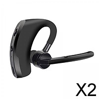 2xHandsfree Bluetooth Headset CVC6.0 with Microphone for Cell Phone Driving