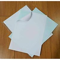 Xấp 100 tờ decal A6 đế xanh nhám khổ A6 10,5x14,8cm in đơn hàng giá rẻ tiện lợi